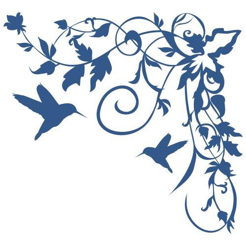 Wandtattoo blumenranke lila beste bildideen zu hause design for Wandtattoo blumenranke