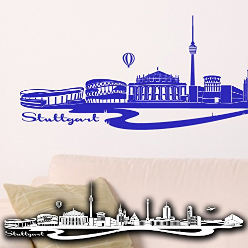 wandtattoo stuttgart skyline. Black Bedroom Furniture Sets. Home Design Ideas