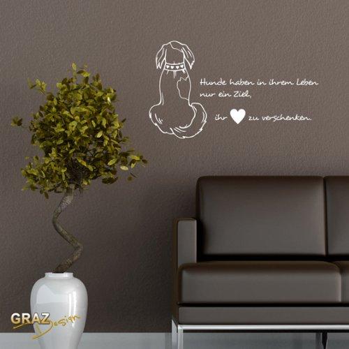 wandtattoo hund. Black Bedroom Furniture Sets. Home Design Ideas