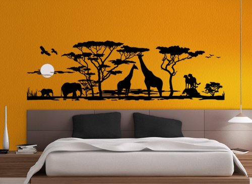 Wandtattoo afrika elefant savanne - Wandtattoo afrika tiere ...