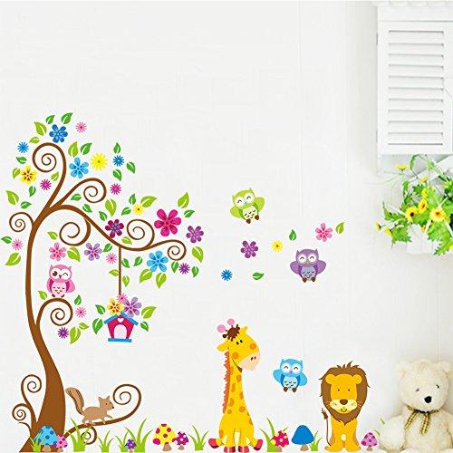 wandtattoo giraffe f r kinder oder wohnzimmer. Black Bedroom Furniture Sets. Home Design Ideas