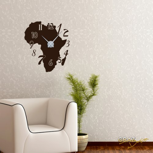 deko wohnzimmer braun Afrika Karte Zahlen Deko f?r ...