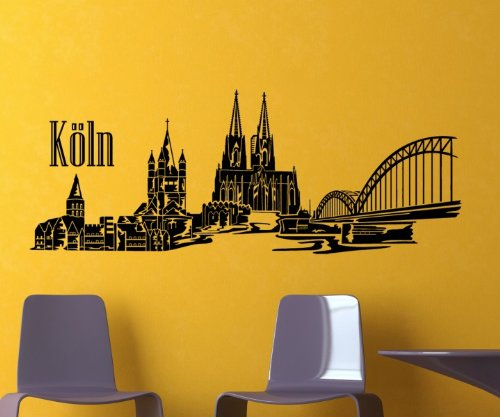 wandtattoo k ln k lner skyline wandsticker. Black Bedroom Furniture Sets. Home Design Ideas
