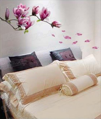 wandtattoo orchidee lila wei. Black Bedroom Furniture Sets. Home Design Ideas