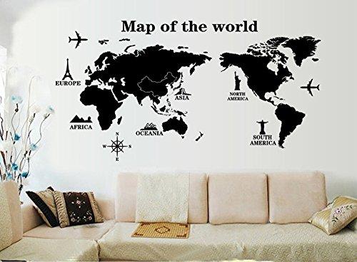 wandtattoo weltkarte g nstig kaufen. Black Bedroom Furniture Sets. Home Design Ideas