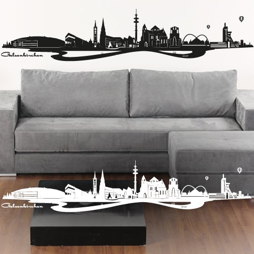 wandtattoo fc schalke 04 logo oder skyline. Black Bedroom Furniture Sets. Home Design Ideas