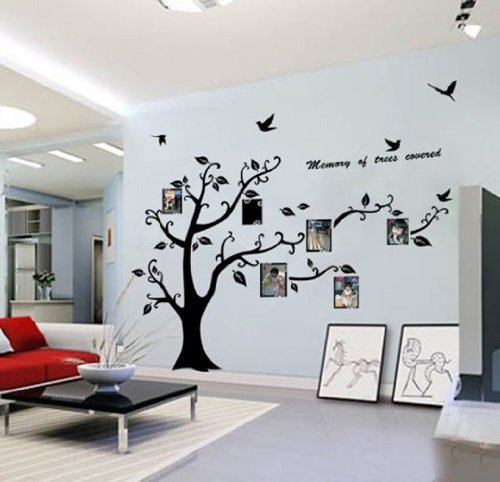 Awesome WallStickersDecal® PVC Riesig Schwarz Bilderrahmen Speicher Vine Zweig  Abnehmbare Wandtattoo Sticker