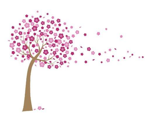 Wandtattoo pflanzen bl ten blumen for Baum wand