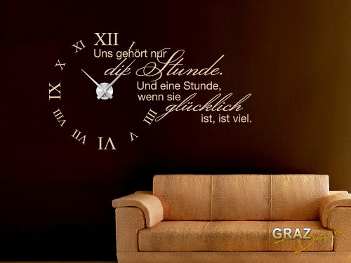 wandtattoo uhr. Black Bedroom Furniture Sets. Home Design Ideas
