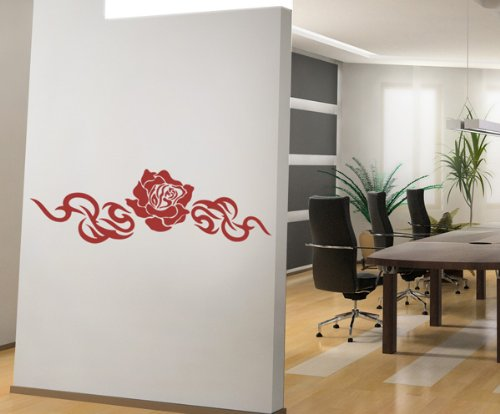 wandtattoo rose. Black Bedroom Furniture Sets. Home Design Ideas