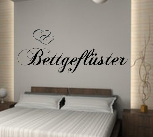 schlafzimmer wandtattoo bettgefl ster. Black Bedroom Furniture Sets. Home Design Ideas