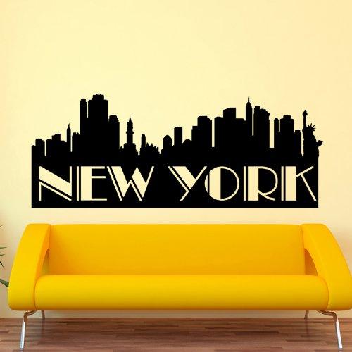 Wandtattoo new york skyline - Ambiance live ...