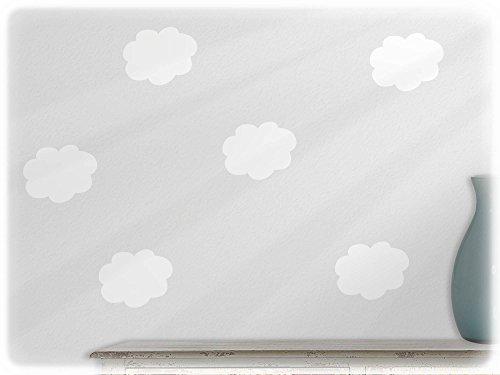 Wandtattoo Wolke Weiß : wandfabrik  Wandtattoo  6 hübsche Wolken für dein Baby in Weiß
