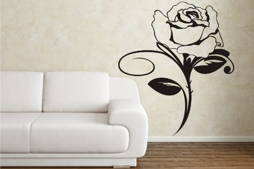 wandtattoo rose. Black Bedroom Furniture Sets. Home Design Ideas