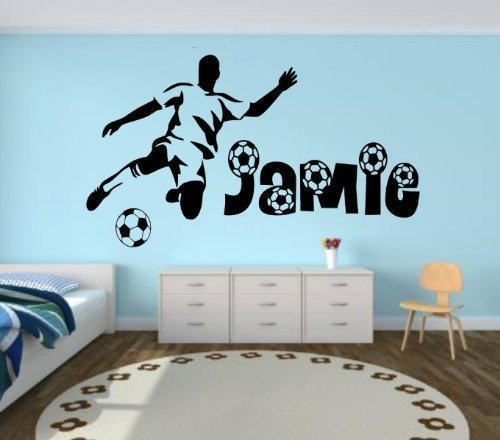 Wandtattoo fussballer for Decoration chambre olympique de marseille