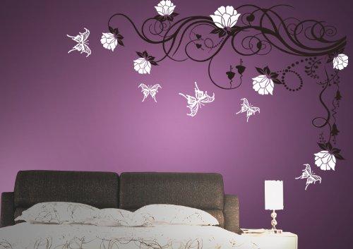wandtattoo blumenranke. Black Bedroom Furniture Sets. Home Design Ideas
