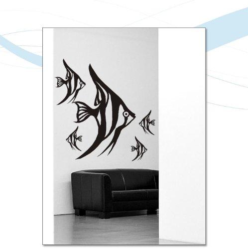 wandtattoo fische. Black Bedroom Furniture Sets. Home Design Ideas