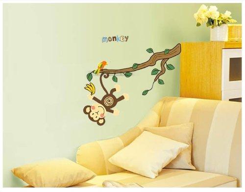 Baum Wandtattoo Im Kinderzimmer: Besonderes Wandtattoo Affe