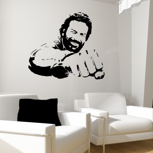 bud spencer wandtattoo terence hill. Black Bedroom Furniture Sets. Home Design Ideas