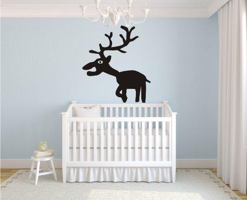 wandtattoo hirsch. Black Bedroom Furniture Sets. Home Design Ideas