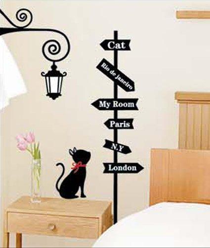 Wandtattoo katze auf ast viele wandsticker f r for Dibujos para decorar tu habitacion