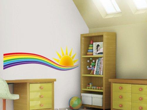 wandtattoo regenbogen f r kinderzimmer oder wohnbereich. Black Bedroom Furniture Sets. Home Design Ideas