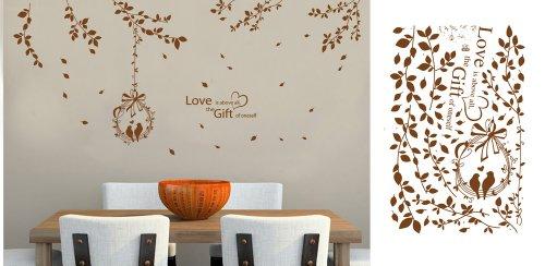 Wandtattoo Braune Wand ~ Kreative Deko Ideen Und Innenarchitektur,  Wohnzimmer Design
