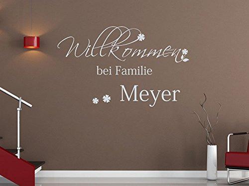 wandtattoo herzlich willkommen welcome. Black Bedroom Furniture Sets. Home Design Ideas