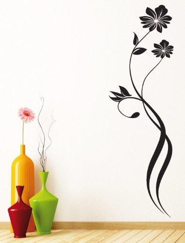 Wandtattoo Blumenranke Weiß : V29 Wandtattoo  Blumenranke Pflanzenornament Blume Pflanze Hibiskus