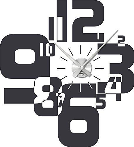 uhr für wohnzimmer:Wandtattoo Uhr Wanduhr mit Uhrwerk für Wohnzimmer moderner Zahlenmix
