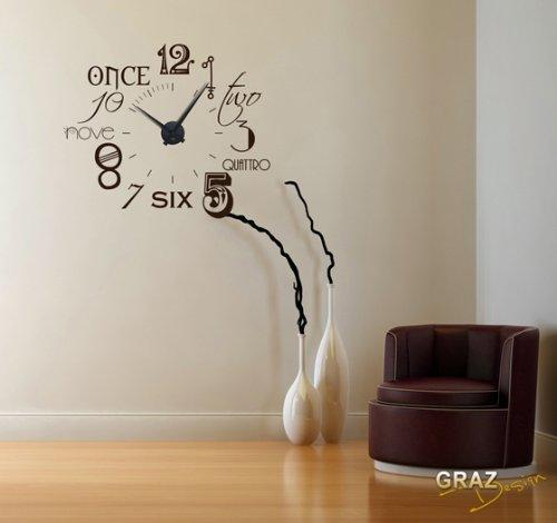 Uhr Modern wandtattoo uhr