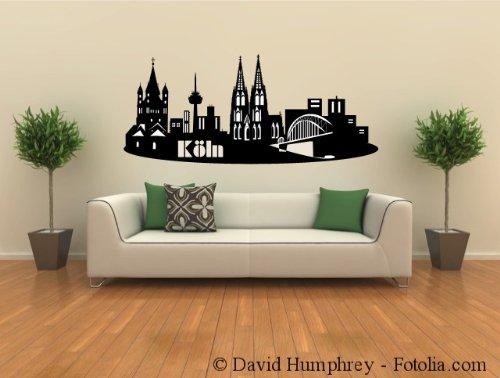 wandtattoo k ln k lner skyline wandsticker. Black Bedroom Furniture Sets. Home Design Ideas