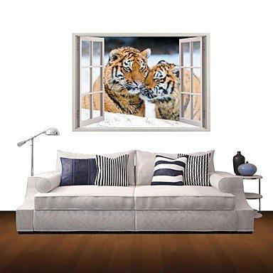 Wandtattoo Tiger liegend oder laufend