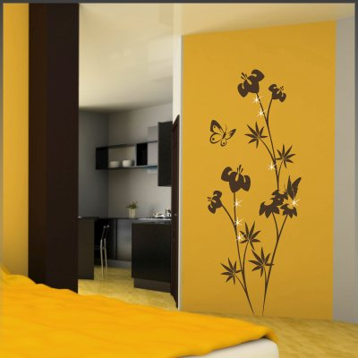wandtattoo pflanzen ranke bl ten blumen. Black Bedroom Furniture Sets. Home Design Ideas