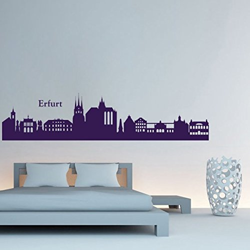wandtattoo erfurt skyline. Black Bedroom Furniture Sets. Home Design Ideas