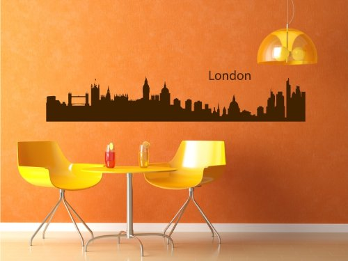wandtattoo london skyline. Black Bedroom Furniture Sets. Home Design Ideas