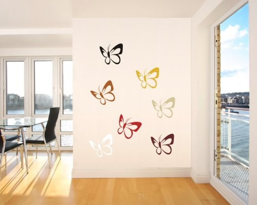 wandtattoo schmetterling g nstig kaufen. Black Bedroom Furniture Sets. Home Design Ideas