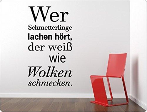 loveWandtattoo 11299 Wandtattoo Spruch Wer Schmetterlinge lachen