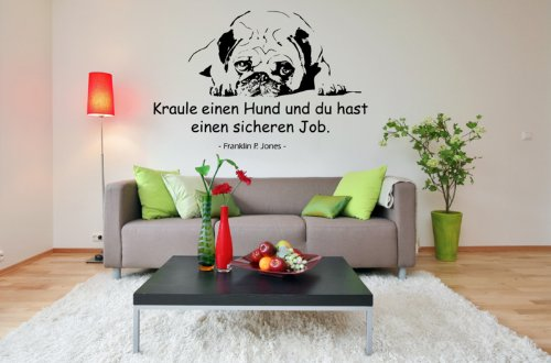 wandtattoo mops ein leben ohne mops ist m glich aber sinnlos. Black Bedroom Furniture Sets. Home Design Ideas