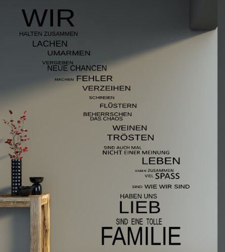 Wandtattoo familie family spr che - Wandtattoo family ...