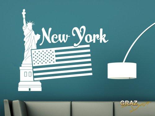 Wandtattoo new york skyline New york deko