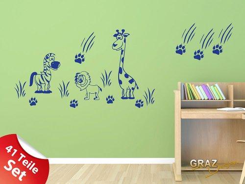 Wandtattoo giraffe for Kinderzimmer zoo