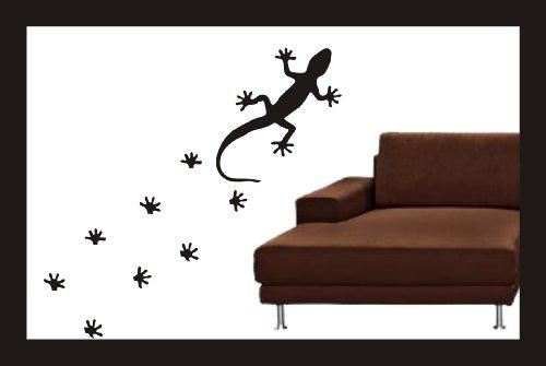 wandtattoo gecko echse einzeln oder als fu spuren. Black Bedroom Furniture Sets. Home Design Ideas