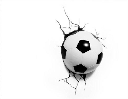 Fußball 3D LED Wandleuchte
