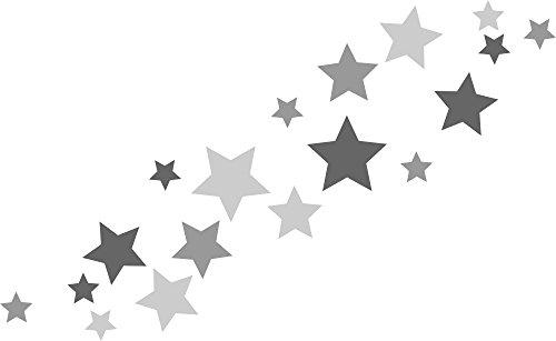 Wandtattoo sterne grau prinsenvanderaa - Wandtattoo sterne grau ...