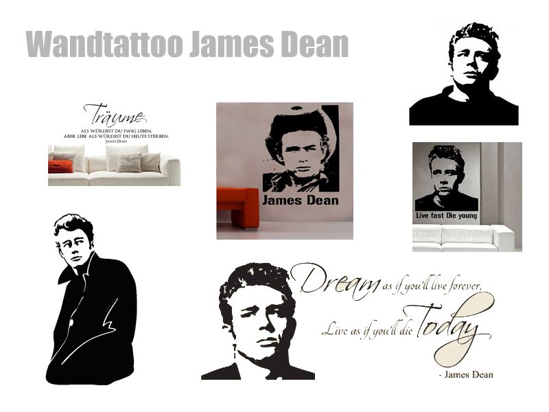 James Dean Wandtattoo