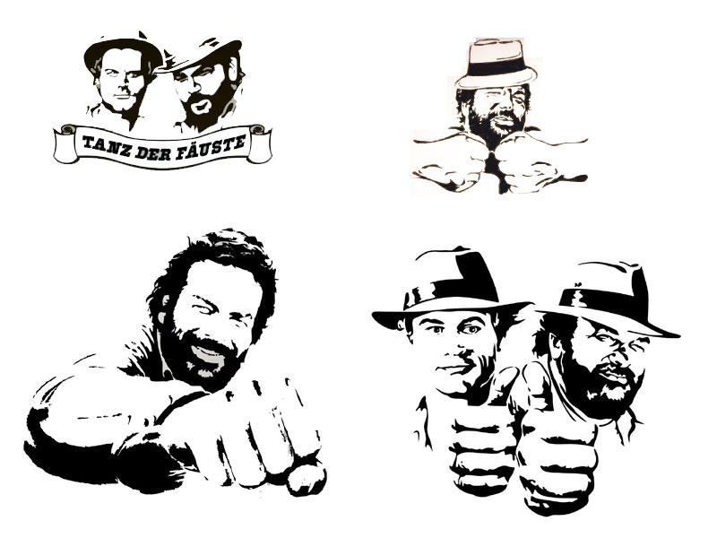 Wandtattoo Bud Spencer