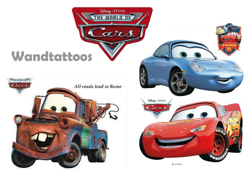 disney wandtattoo cars in xxl und verschiedenen gr en On cars wandtattoo