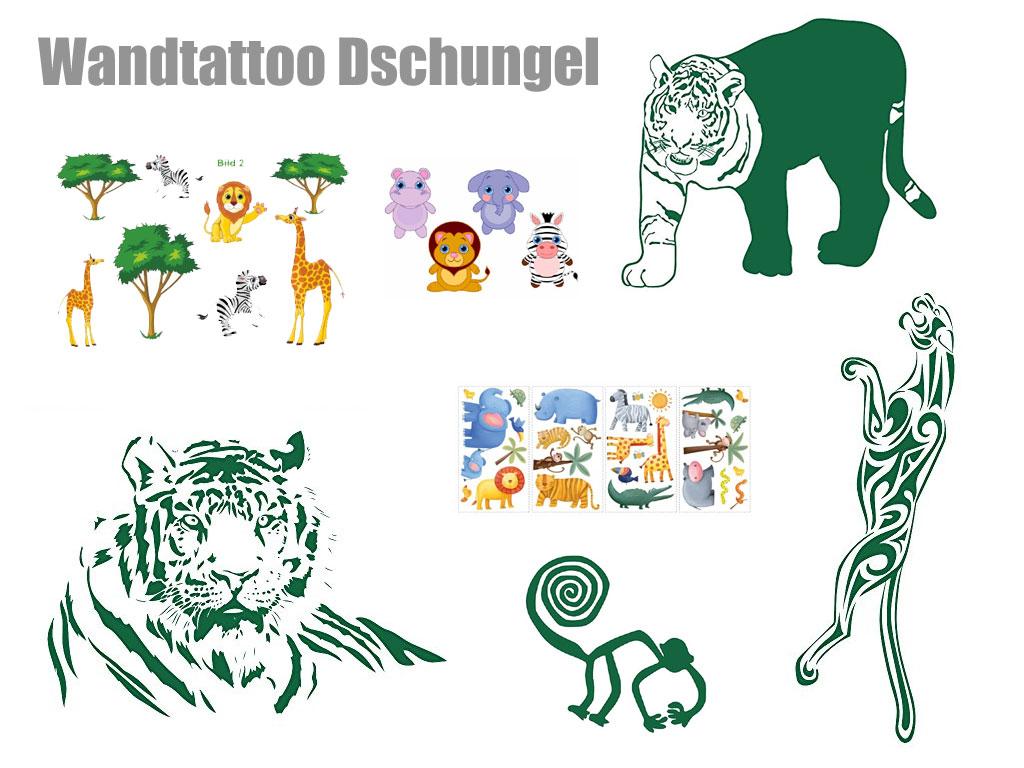 Wandtattoo Dschungel - den Regenwald im Wohn oder Kinderzimmer