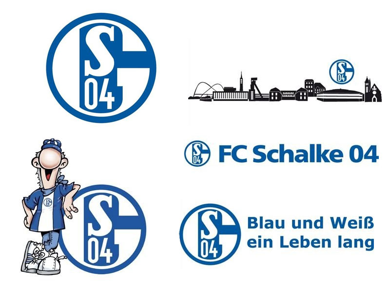 wandtattoo fc schalke 04 logo oder skyline. Black Bedroom Furniture Sets. Home Design Ideas